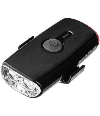 TOPEAK HeadLux Dual Headlight/Taillight, USB, Black