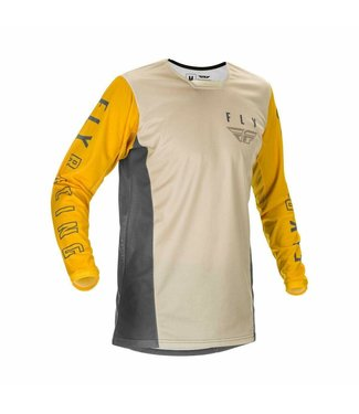 FLY RACING YOUTH KINETIC K121 JERSEY MUSTARD/STONE/GREY Youth Med