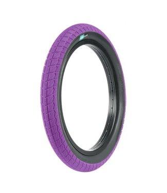 "Sunday Current Tire 18"" x 2.2"" Purple/Black Wall"