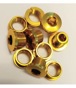 MCS CHAINRING BOLT SET GOLD alloy