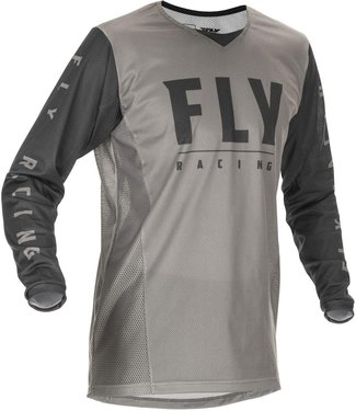 FLY RACING YOUTH KINETIC MESH JERSEY LIGHT GREY/DARK GREY YM