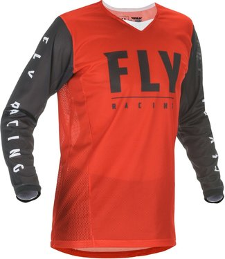 FLY RACING YOUTH KINETIC MESH JERSEY RED/BLACK YM