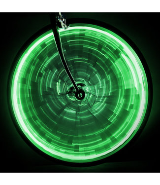 LIGHT WHEEL GLOW ONE-WHEEL GREEN