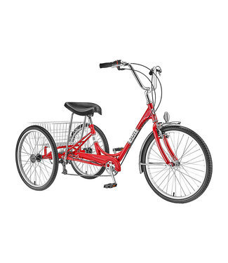 SUN BICYCLES TRIKE ADULT P-RD 24 7sp ALLOY WHL w/BASKET