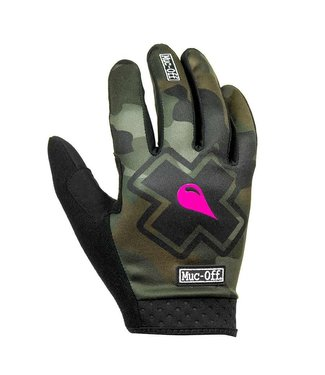Muc-Off MTB Ride, Full Finger Gloves, Unisex, Camo, SMALL, Pair
