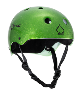 PROTEC CLASSIC CANDY GREEN FLAKE SMALL HELMET