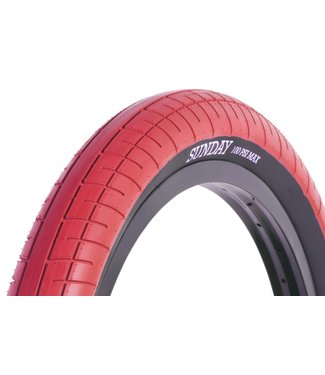 Sunday STREET SWEEPER TIRE RED w/ BLK 20x2.4