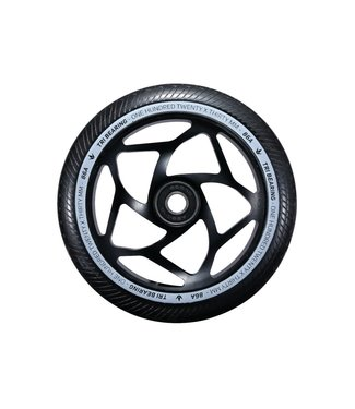 120mm x 30mm Tri Bearing Wheel - Black/Black