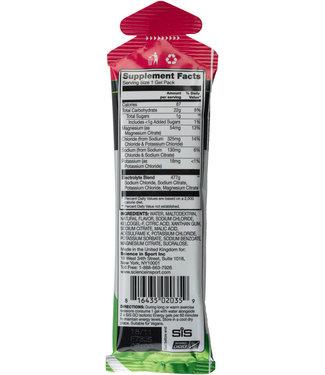 SIS Science in Sport Nutrition GO Energy + Electrolyte Gel: Raspberry, 60ml 1 packet
