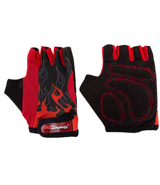 KIDZAMO GLOVES FLAME RED/BLACK