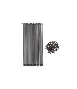 BSD BUTTED SPOKES 186mm Black (Pack of 40)