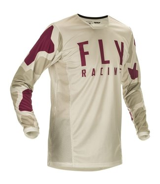 FLY RACING KINETIC K221 JERSEY STONE/BERRY ADULT LARGE