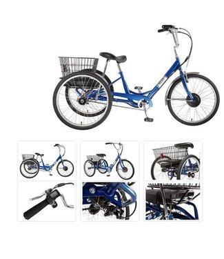 SUN BICYCLES TRIKE  ADULT E350 P-BU 24 ELECTRIC 1sp w/BLACK BASKET*