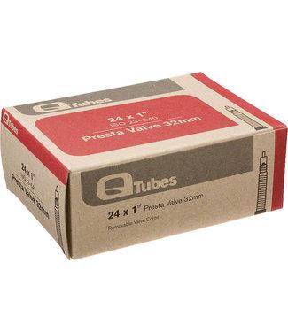 """Q-Tubes TUBE 24"""" x 1"""" 32mm Presta Valve Tube"""