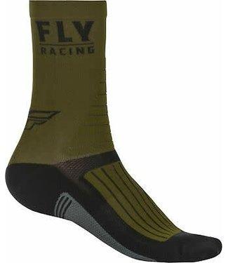 FLY RACING FACTORY RIDER SOCKS GREEN/BLACK/GREY LG/XL