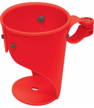 DELTA Grande Beverage Holder/ Water Bottle Cage: Handlebar Mounted Red