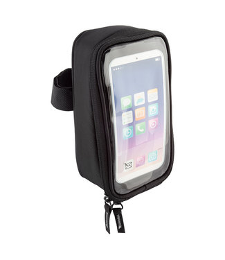 BAG TOP TUBE BENTO BOX LG w/PHONE WINDOW BK (G)