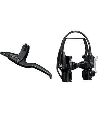 Magura HS11 Linear Pull Brake and Lever - Front or Rear, 4-Finger Lever, Black