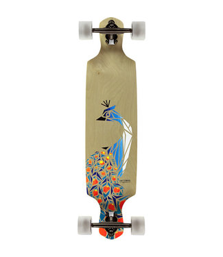 "San Clemente Birds of Paradise Drop Through Longboard Complete Skateboard - 8.5"" x 36"""