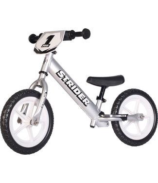 Strider Sports 12 Pro Kids Balance Bike: Silver
