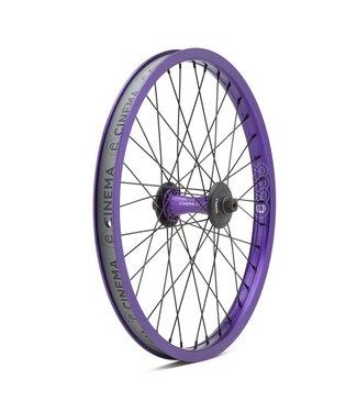 Cinema ZX Front Wheel w/Hub Guards:Purple