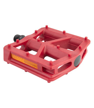 BLACK OPS PEDALS T-BAR 9/16 RED
