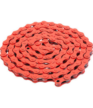 "Bluebird Chain - Single Speed 1/2"" x 1/8"", 112 Links, Red"