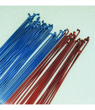 MCS 14g thick Stainless Steel Spokes 36 Per Bag BLUE ONLY 292mm