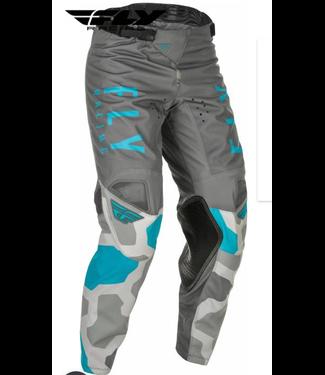 FLY RACING YOUTH KINETIC K221 PANTS GREY/BLUE SZ 18