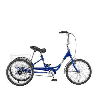 SUN BICYCLES TRIKE  ADULT MET-BU 20 ALY WHL***W/WHITE BASKET*** (F)