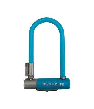 """KRYPTONITE Krypto Series 2 Mini-7 U-Lock - 3.25 x 7"""", Keyed, Blue, Includes bracket"""