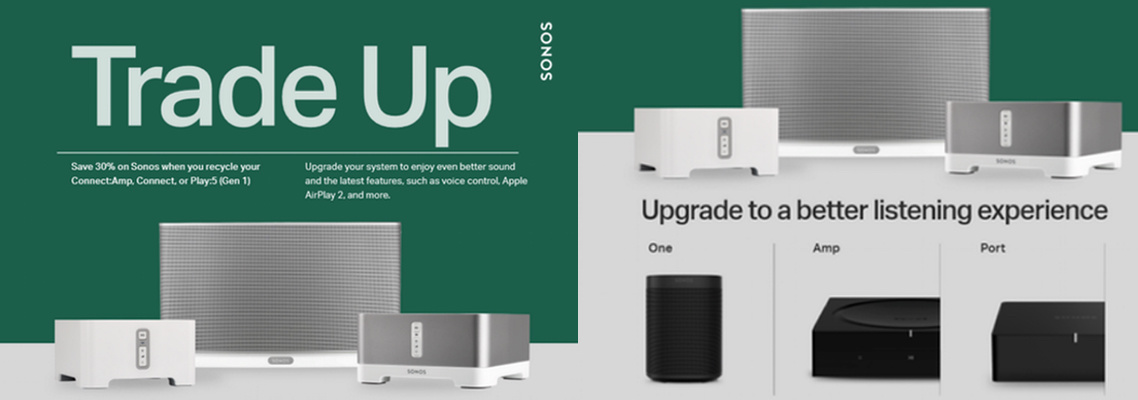 Sonos Trade Up Offer
