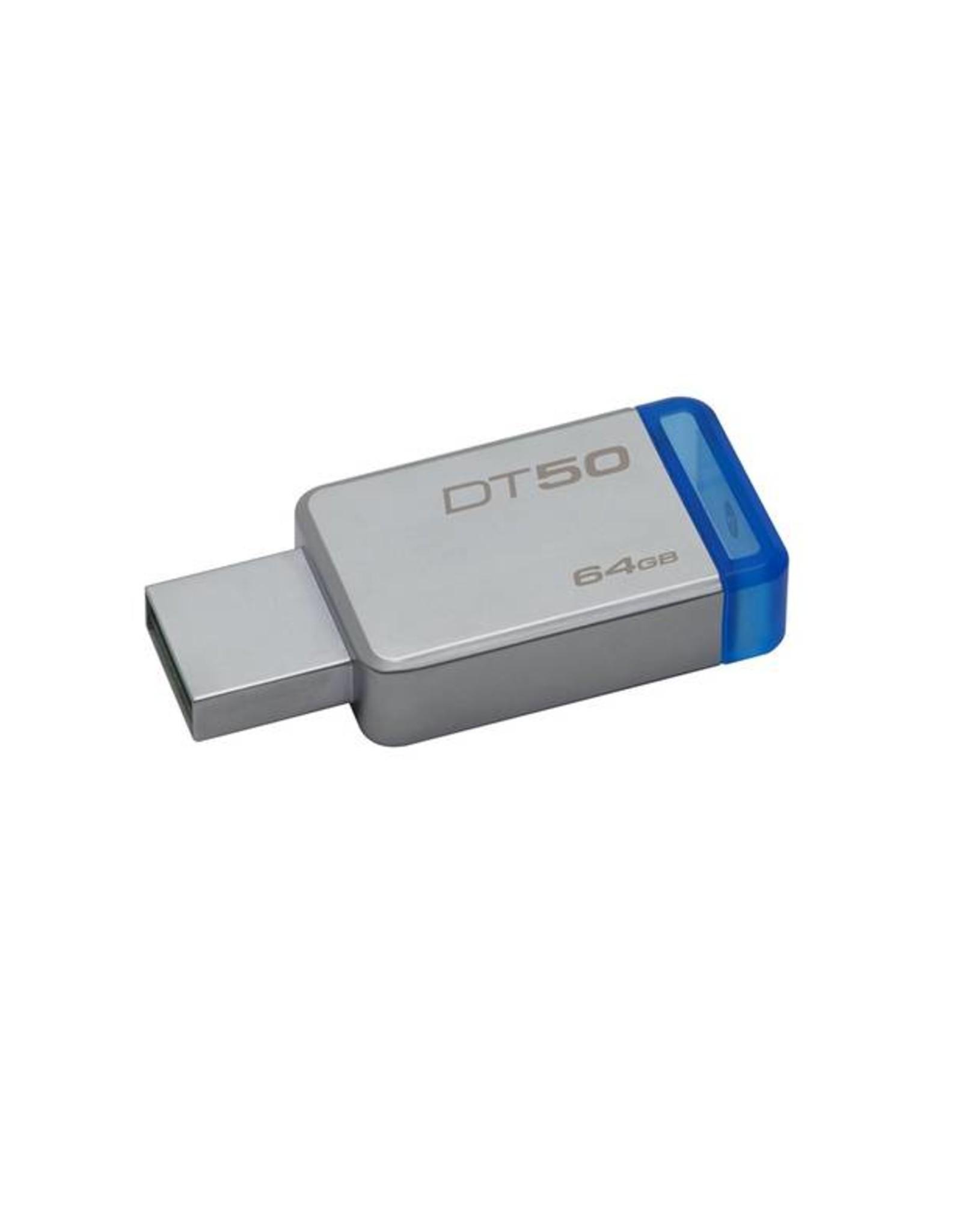 KINGSTON KINGSTON 64GB DATATRAVELER 50 USB 3.0 FLASH DRIVE