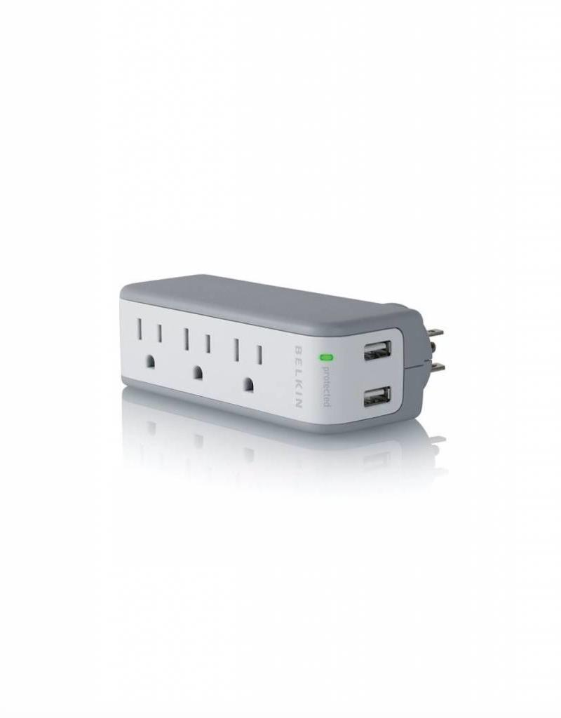 BELKIN BELKIN MINI SURGE PROTECTOR (3 OUTLET WITH USB)