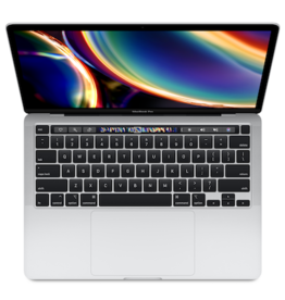 "Apple MACBOOK PRO 13"" WITH TOUCH BAR - SILVER (2020-10GLE)"