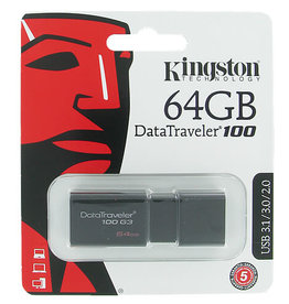 KINGSTON DATATRAVELER 100 G3 64GB USB 3.0 FLASH DRIVE