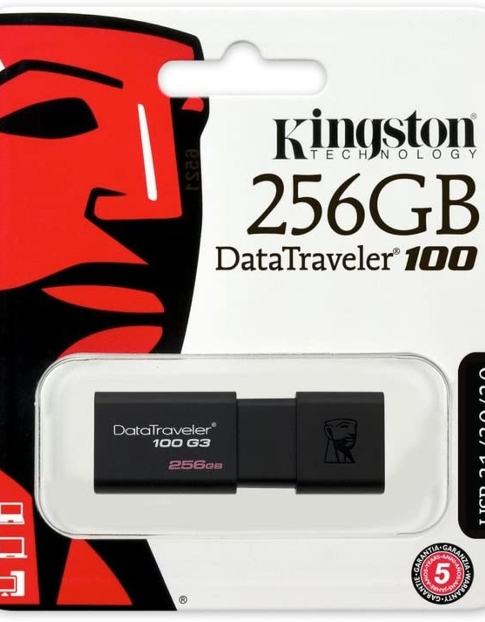 KINGSTON KINGSTON DATATRAVELER 100 G3 256GB USB 3.0 FLASH DRIVE
