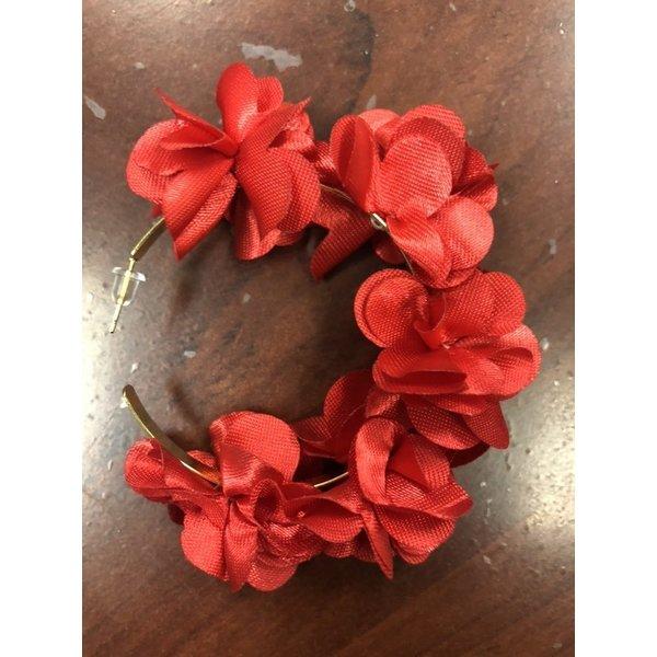 Floral Hoop Red -19