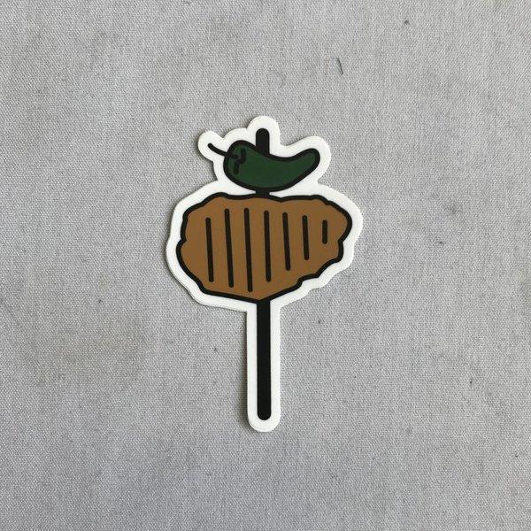 Chicken on a Stick Sticky Sticker- 20