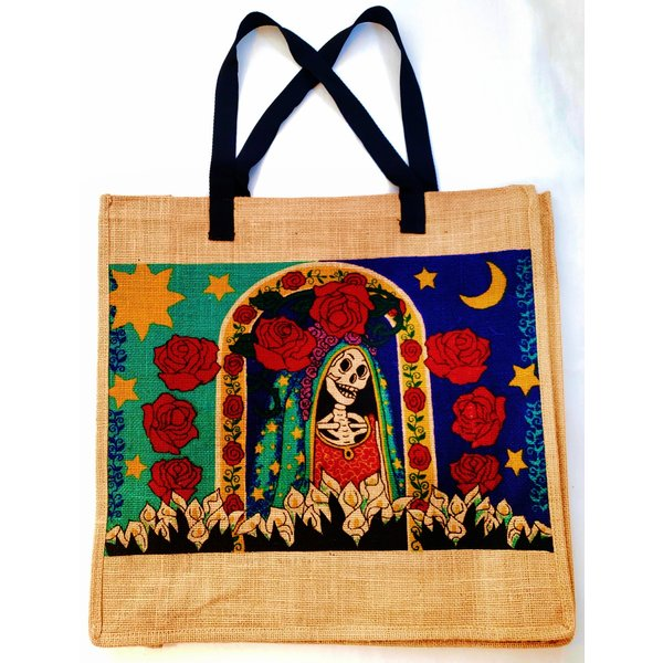 Day of the Dead Window  Jute Bag-20