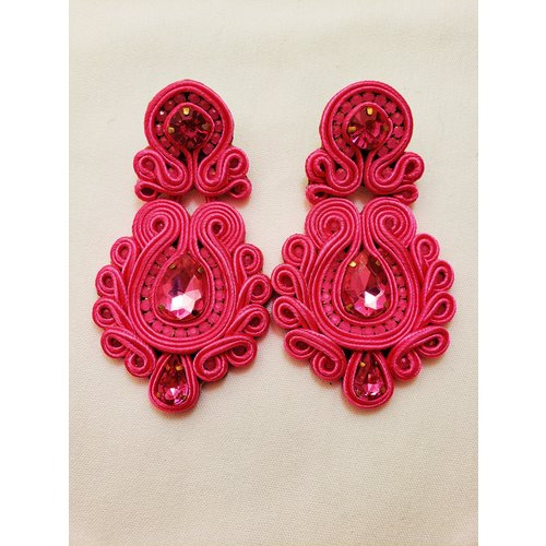 Treasure Jewels Clara Pink Earrings-20