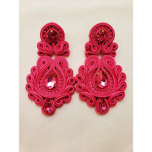 Treasure Jewels Clara Pink Earrings-20