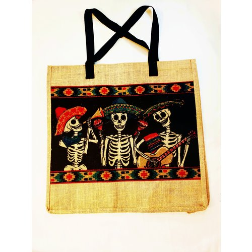 Day of the Dead Mariachi  Jute Bag-20