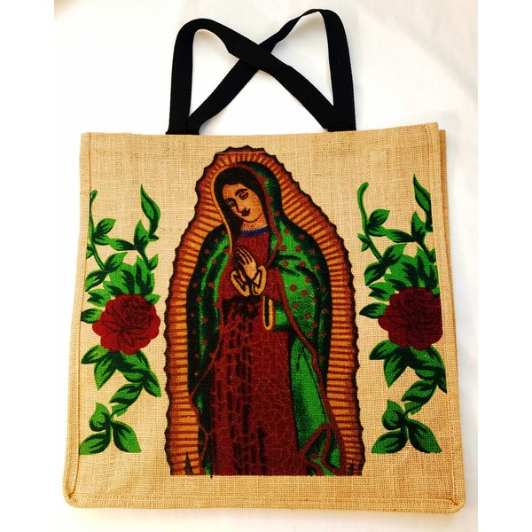 La Virgin de Guadalupe Jute Bag-20