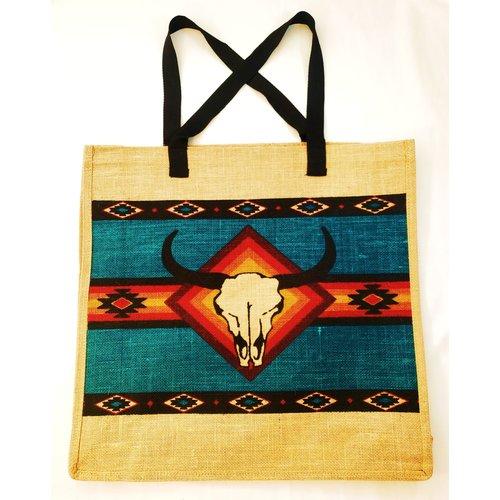 Southwest Longhorn Jute Bag-20