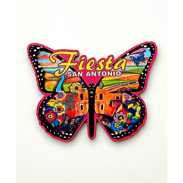 2020 Official Poster Butterfly Cut-out Magnet