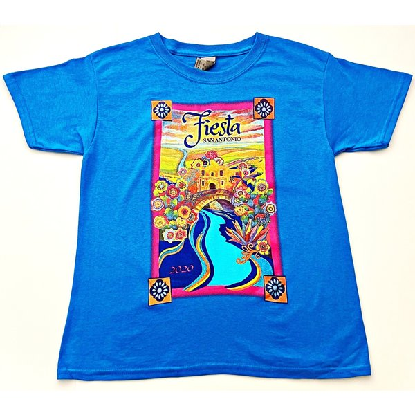 2020 Official Poster Tee -Youth -Sapphire -SMALL