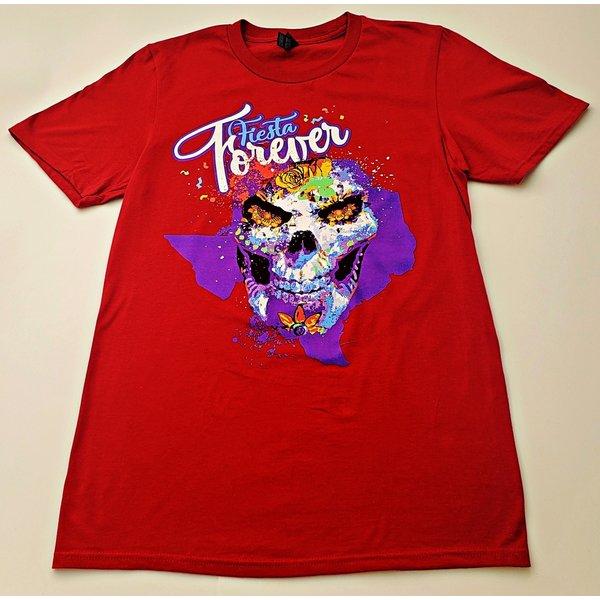 2020 Fiesta Forever Texas Tee Dark Red -2XLARGE