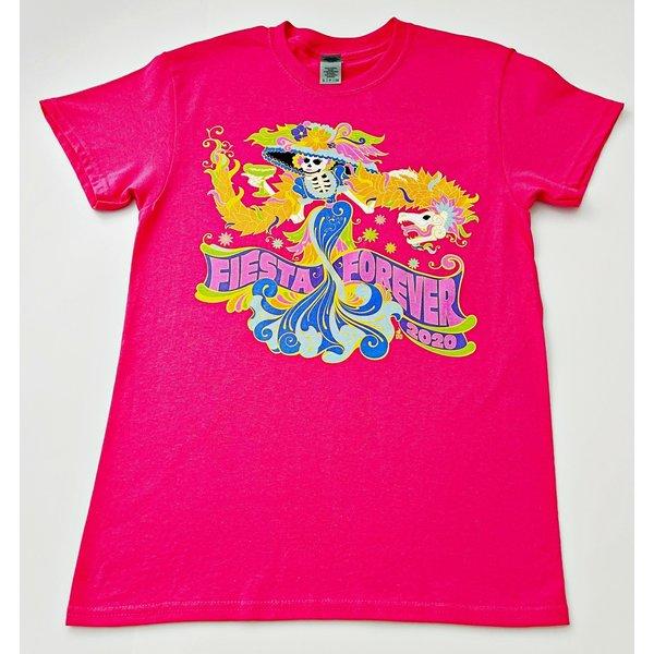 Fiesta Forever- La Catrina - Bright Pink-MED-20