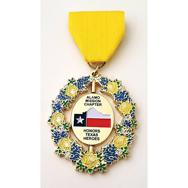 Alamo Mission Chapter DRT Vintage Medal- 2019
